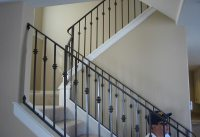 Ornamental Wrought Iron Staircase Railing