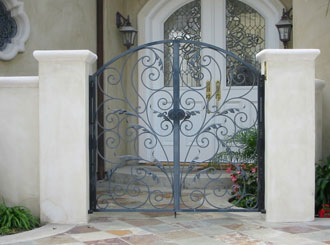 Ornamental Wrought Iron Entry Gates Orange County Ca