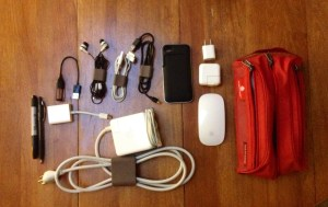 Organizing Cables for Travel