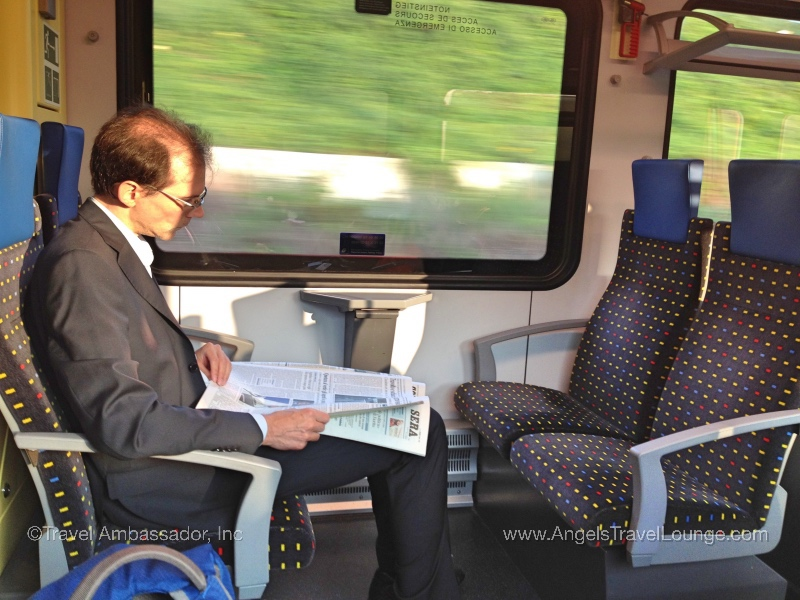 Tickets on regional trains have open seating and dating. Travel anytime and sit in an open seat.