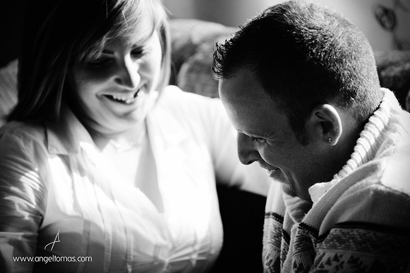 Reportaje de fotografía de Premamá con Loli y Daniel