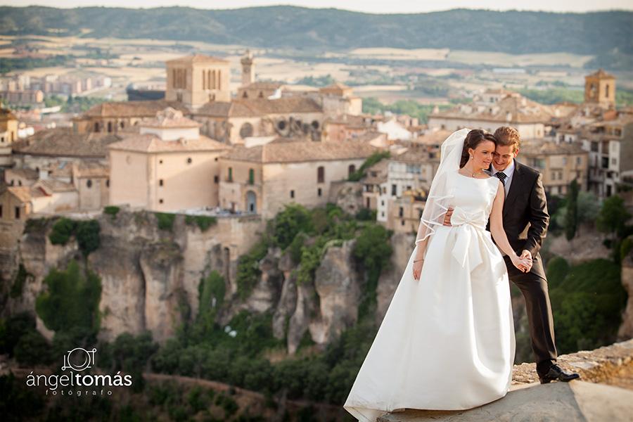 Reportaje fotografía de boda realizado en Cuenca por Ángel Tomás Fotógrafo de bodas. Panorámica.