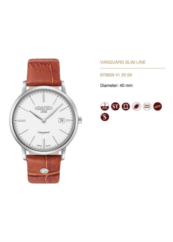 ROAMER Mens Wrist Watch Model VANGUARD SLIM LINE MPN 979809 41 25 09