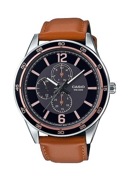 CASIO Mens Wrist Watch Model DAY DATE 24H MPN MTP-E319L-1B