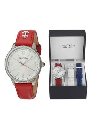 NAUTICA Unisex Wrist Watch Model NST 11 MPN 3 straps, special packaging MPN NAI16530M