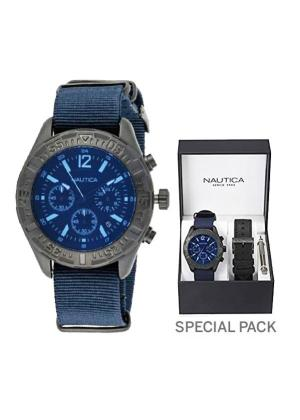 NAUTICA Gents Wrist Watch Model NST 402 MPN 2 straps, special packaging MPN NAI22508G