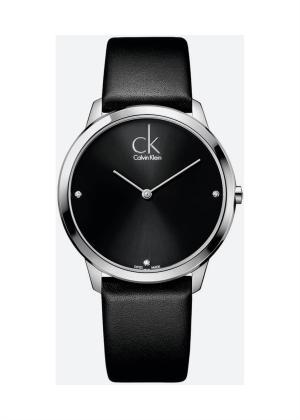 CK CALVIN KLEIN Gents Wrist Watch Model MINIMAL - 3 Diamonds K3M211CS