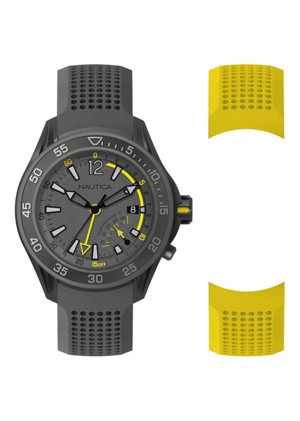 NAUTICA Gents Wrist Watch Model BREAKWEATHER Special Pack + Extra Strap NAPBRW006