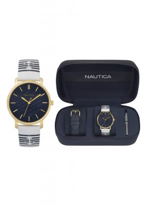 NAUTICA Unisex Wrist Watch Model Special Pack + Extra Strap NAPCGS008