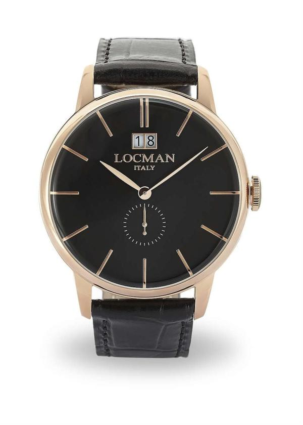 LOCMAN Gents Wrist Watch Model 1960 COLLECTION 0252V09-RGBKRGPK