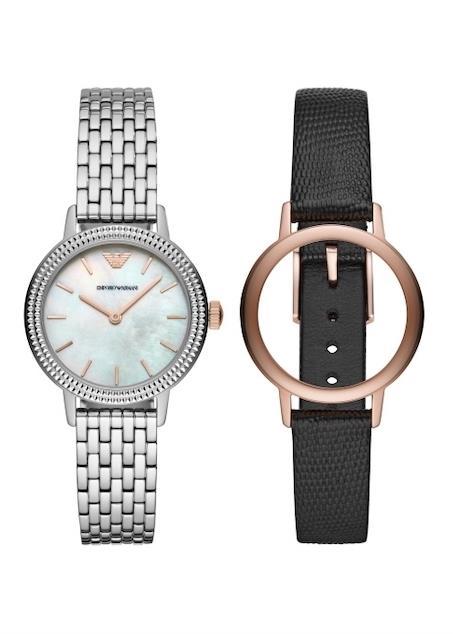 EMPORIO ARMANI Ladies Wrist Watch Model Special Pack + Extra Strap AR80020