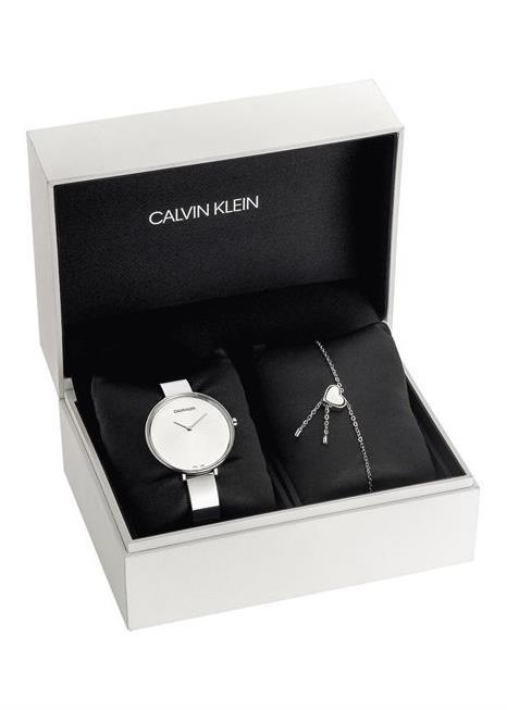 CK CALVIN KLEIN NEW COLLECTION Ladies Wrist Watch Model RISE Splecial Pack + Bracelet CKSETK7ASKJ5Q