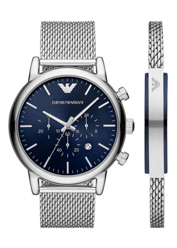 EMPORIO ARMANI Gents Wrist Watch Model LUIGI Special Pack + Bracelet AR80038