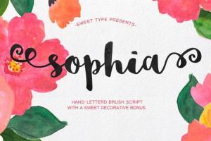 huruf sophia tulis tangan download gratis