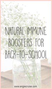 I really started researching natural immune boosters, which has helped us make it through the year with very few doctor's visits.