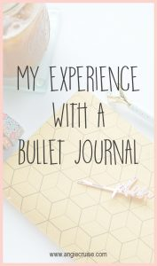 Recently, I've read a lot about Bullet Journals. They're all the rage! I thought I'd give it a try and see if this organizational tool could work for me.
