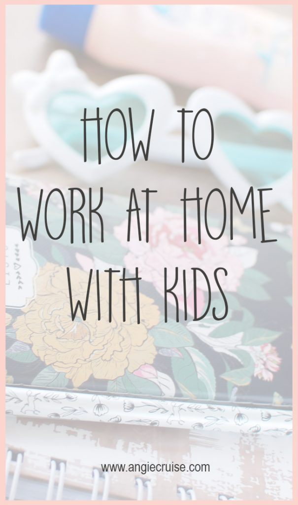 What is your biggest struggle with to work at home with kids? I'm giving you 5 tips on keeping your kids happy and entertained while you work.