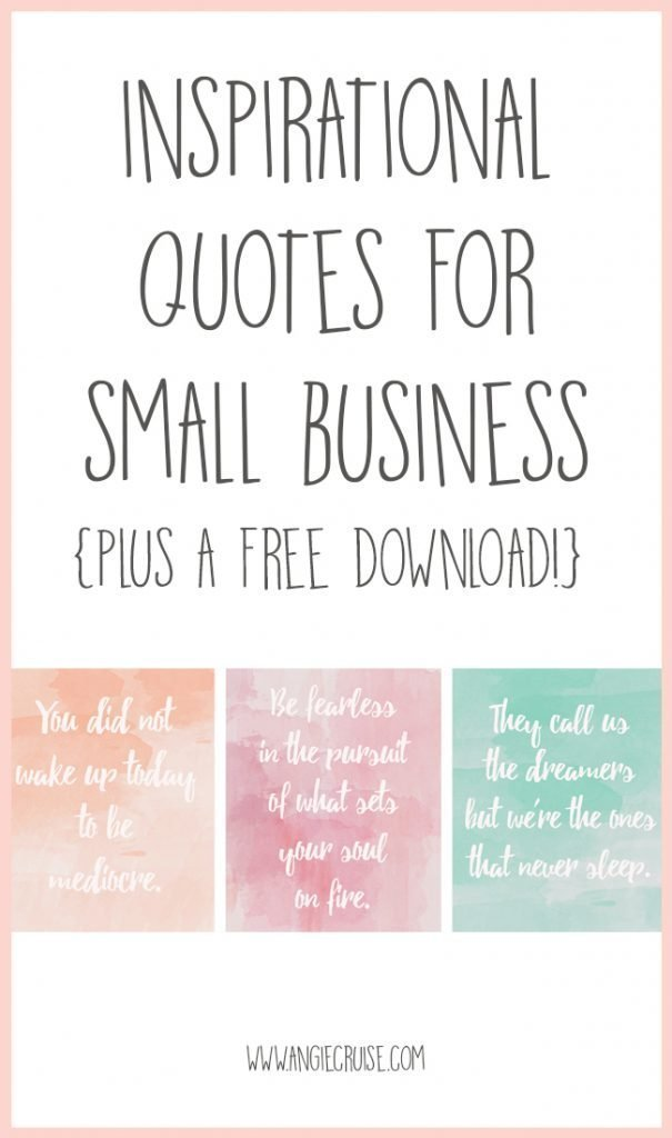 My Favorite Inspirational Quotes for Creative Entrepreneurs