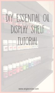 As my oil collection grew, I knew I needed a better way to organize it. I decided to make a DIY essential oil shelf display for my kitche. Here's how!