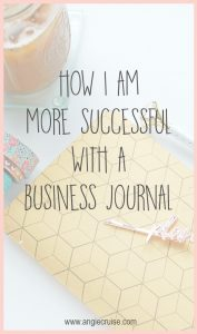I've been using a business journal for over a year now. It has been so helpful that I wanted to show you exactly how I use it!