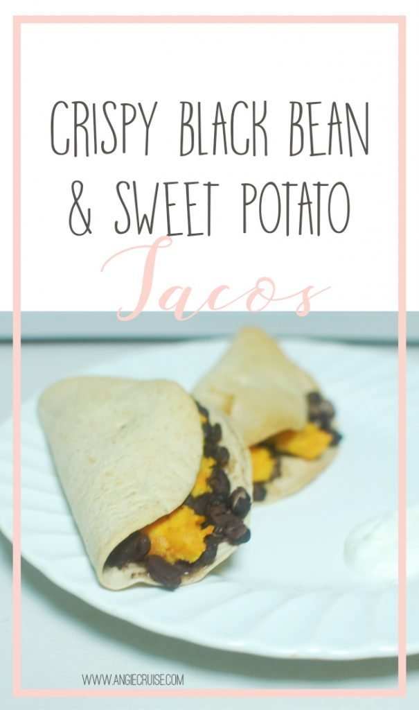 We ended up trying quite a few vegetarian recipes recently that we all loved. One of our favorites are these crispy black bean and sweet potato tacos. They were easily customizable for our whole family. I even made mine Trim Healthy Mama friendly! Read on for the full recipe.