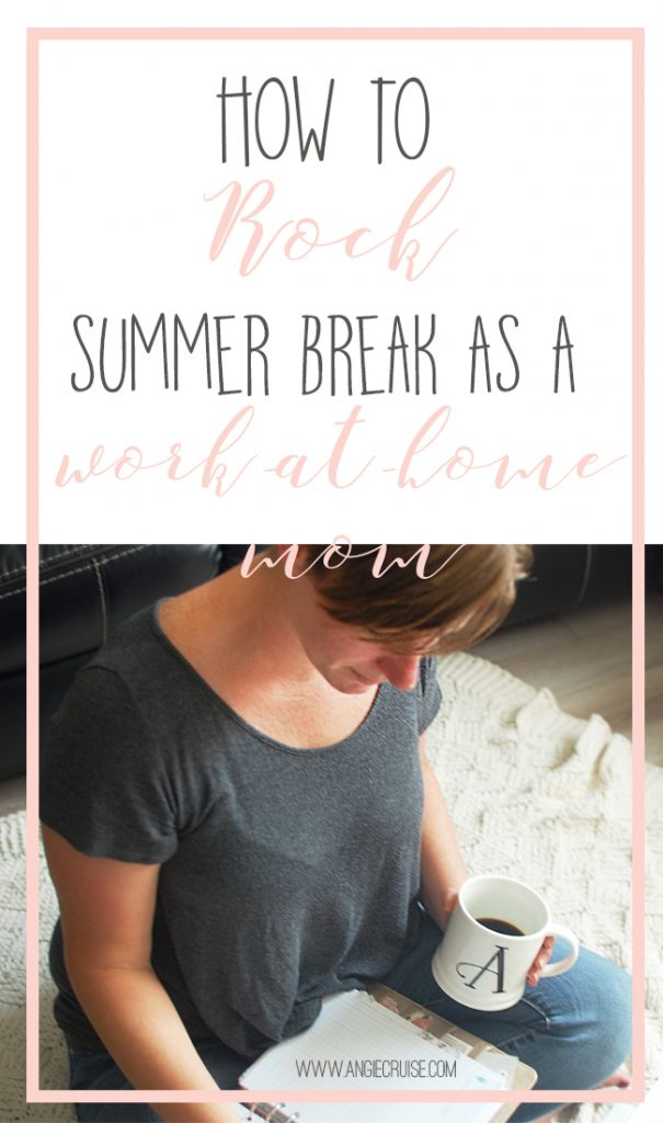 I love having my kids home for summer break, but as a work-at-home mom, it does add a new challenge. Read on to see some of my tips for rocking this time. #summerbreak #wahm