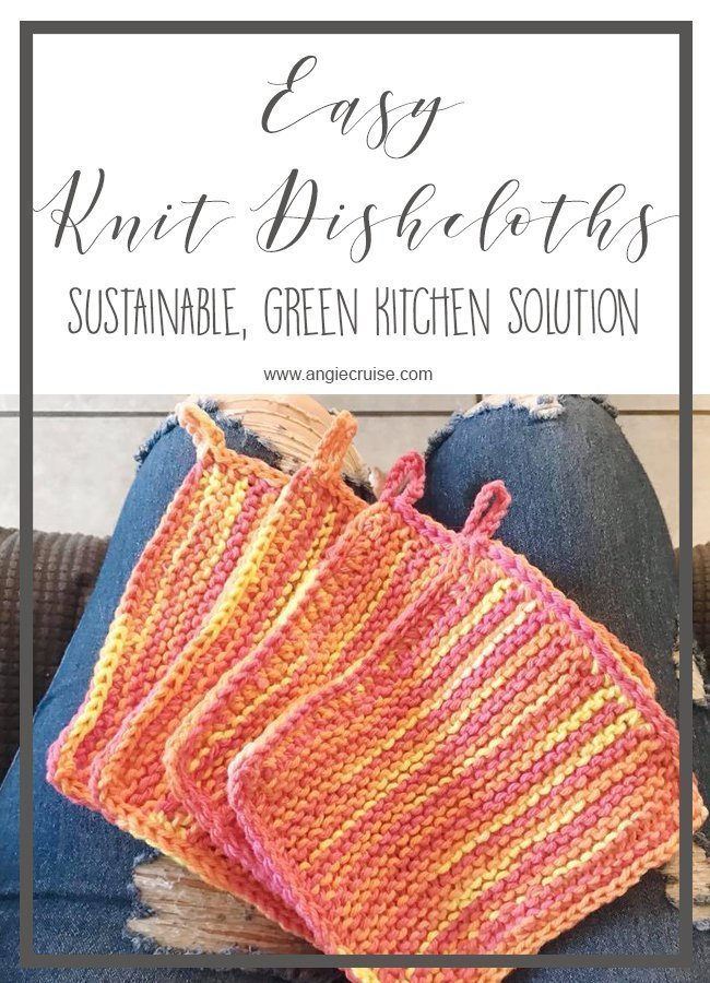 Easy Knit Dishcloths Free Knitting Pattern Angie Cruise Blog