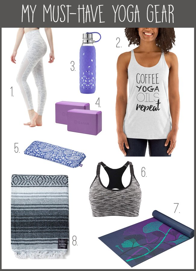 Thinking about trying out yoga this year? Check out my favorite yoga gear essentials for a great home practice or yoga class!