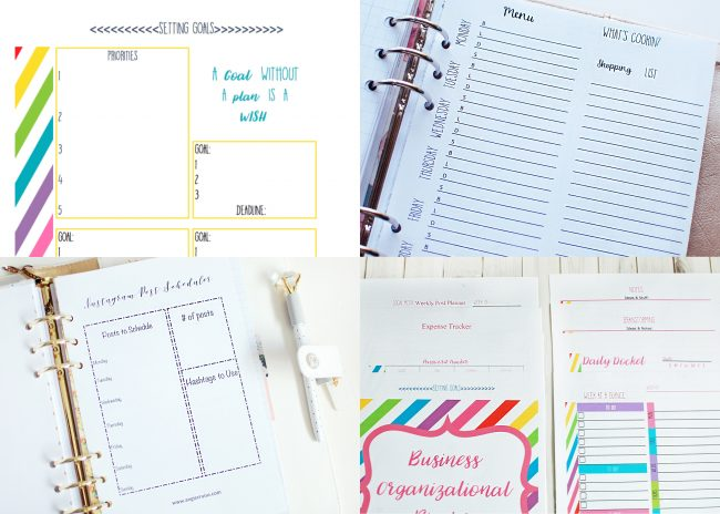 Planner Printables, Free Printales, Small Business Organization, Meal Planning Printables