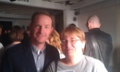 me, with Marc Evan Jackson, at the special recording of The Thrilling Adventure Hour