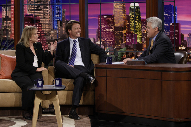 John Edwards on 'The Tonight Show', and courtesy John Edwards' Flicker, used under a Creative Commons Attribution-ShareAlike