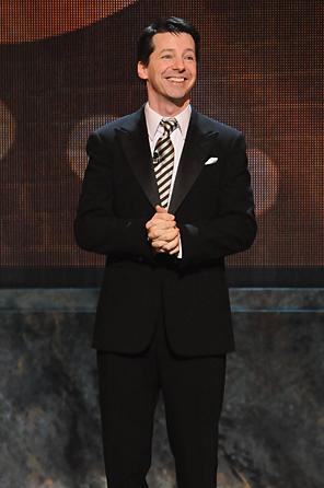 Host Sean Hayes at the 2010 Tony Awards rehearsal.