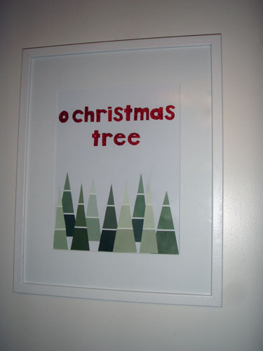 Christmas Tree Paint Chip Art