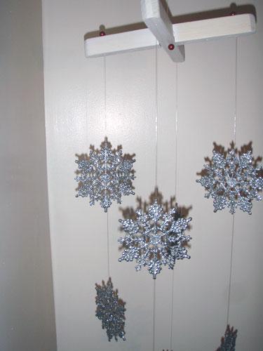 Glittery Snowflake Mobile