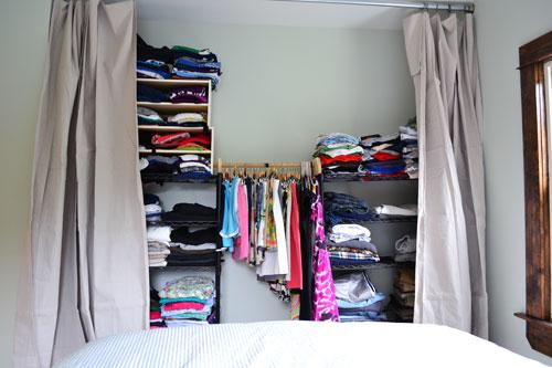 Drop Cloth Curtain Call