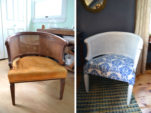 Thrift Store Chair Makeover Before And After