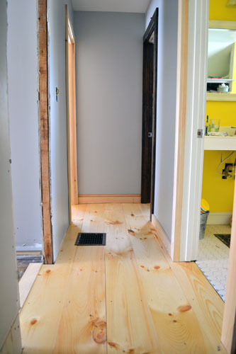 Pine Hard: How To Install Wide Pine Flooring - Angie's Roost