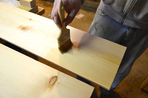 Pre Polying Pine Flooring