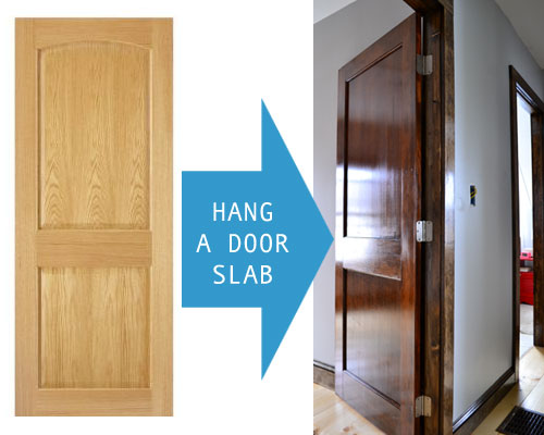 How To Hang A Door Slab & How To Prep A Door Slab For Installation - Angie\u0027s Roost Pezcame.Com