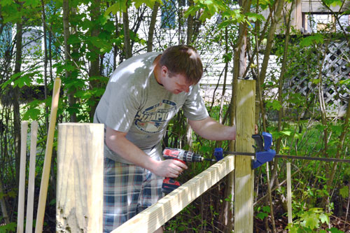 Attach Railing To Fence Posts