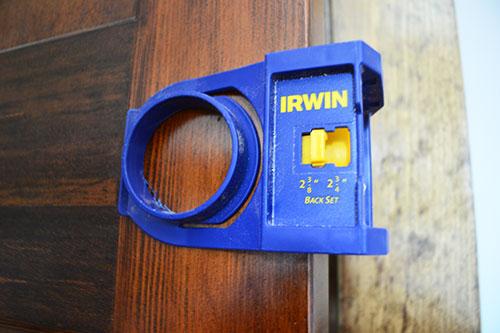 Wood Door Lock Installation Kit : Where no doorknob has been before angie s roost