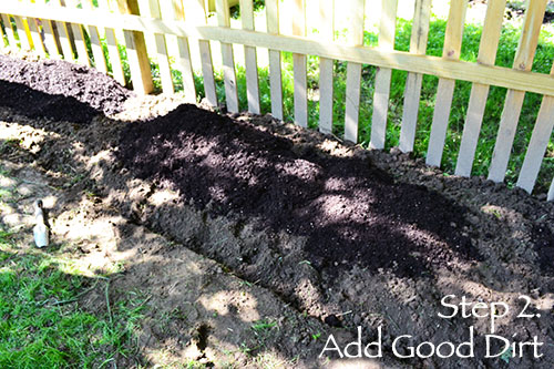 Step 2: Add Good Dirt
