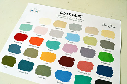 Annie Sloan Chalk Paint Color Chart Angie S Roost