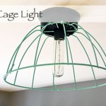 $11 DIY Cage Light Fixture