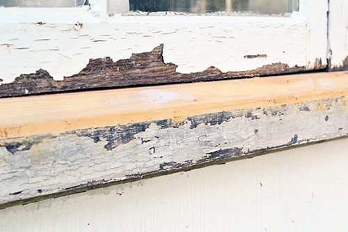 Damaged Window Sill