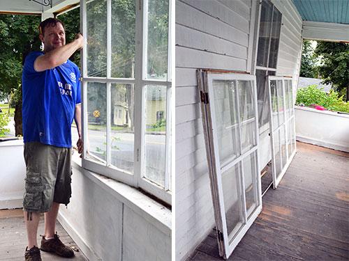 Porch Window Removal In Progress