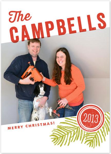 Campbell Family Christmas Card Alternative 1