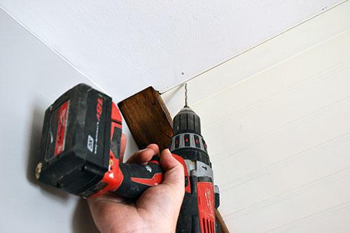 Drilling Pilot Holes For Drying Rack