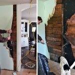 Exposing Old Wood Sheathing