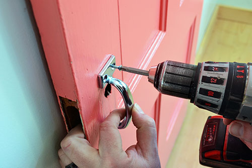 Installing Barn Door Handle